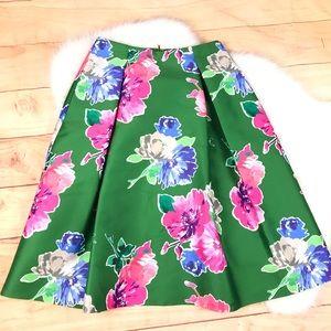 Kate Spade Lorella Skirt Pockets Floral Green